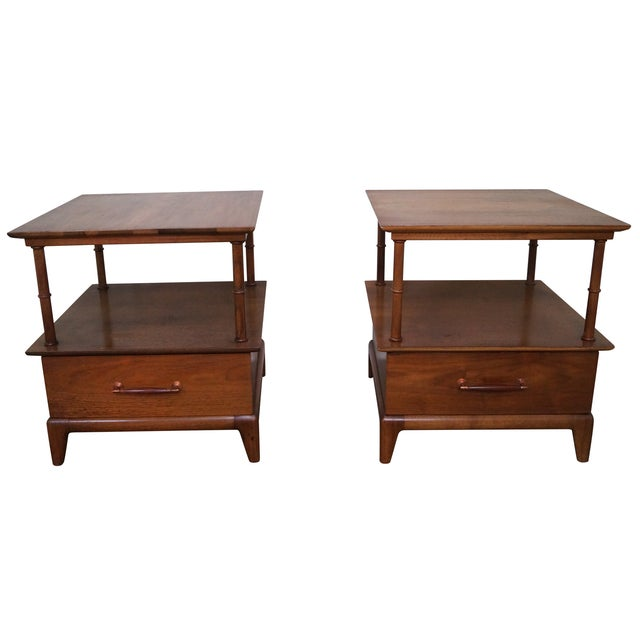 Heritage Henredon Mid Century End Tables - Image 1 of 10