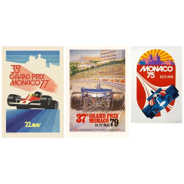Jean Ramel-Monaco Grand Prix 1957-1985 Lithograph