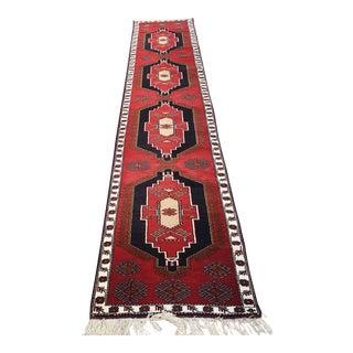 Vintage Long Turkish Oushak Runner Rug - 2′7″ × 14′2″ For Sale