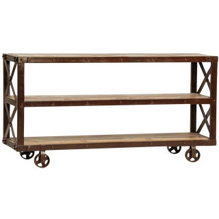 Reclaimed Wood and Iron Plasma Trolley