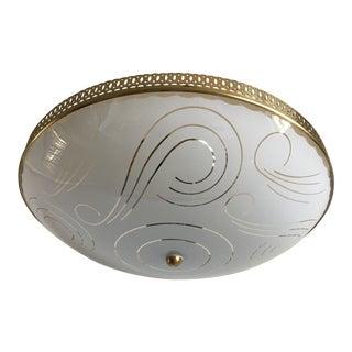 Mid-Century Modern Flush Light For Sale