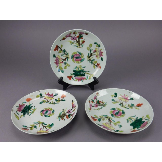 Antique Chinese Qing Dynasty Plates - Set of 3 - Image 2 of 11