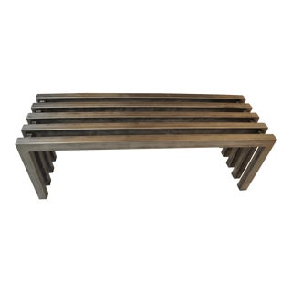 Hand Crafted Steel Rectangular Tube Bench For Sale