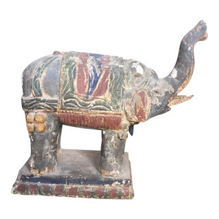 Hand Carved Elephant Statue For Sale