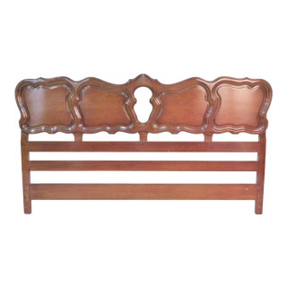 French Style Mahogany King Size Headboard For Sale