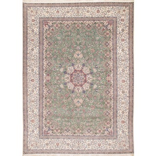 Pasargad Persian Nain Handmade Hand-Knotted Habibian Design - 8′4″ × 11′7″ For Sale