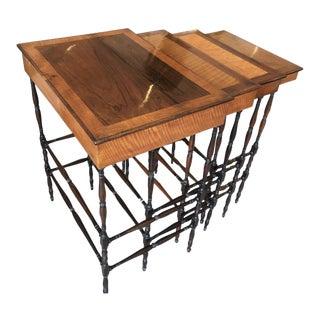 Regency Specimen Nesting Tables by Gillows of Lancaster & London - Set of 5 For Sale