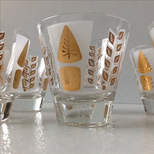 Fred Press Mid-Century Gold Tree Shot Glasses- S/8 - Image 6 of 11