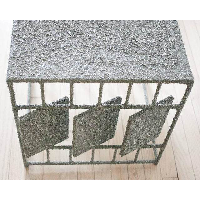 Not Yet Made - Made To Order Hand Made Side Table of Crushed Pyrite of Mexico, by Samuel Amoia For Sale - Image 5 of 7