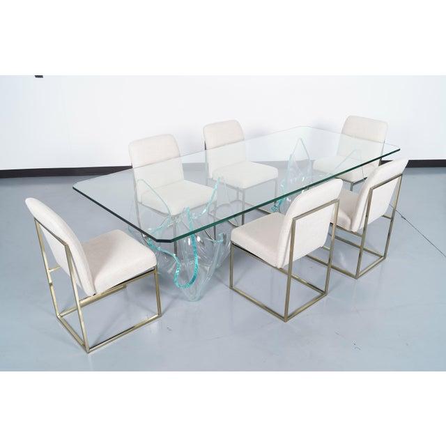 Laurel Fyfe Vintage Sculptural Glass Dining Table by Laurel Fyfe For Sale - Image 4 of 9