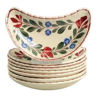 1950s Adams China Alcazar Bone Dishes For Sale