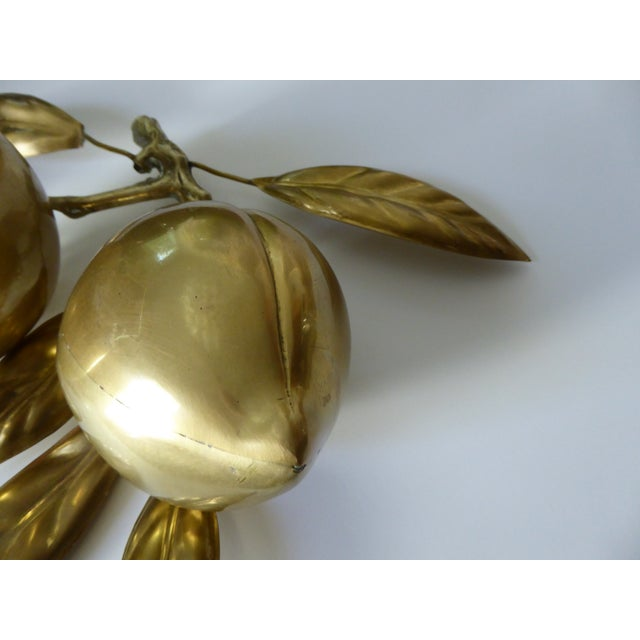 Large Mid Century Brass Fruit Table Sculpture - Image 3 of 6