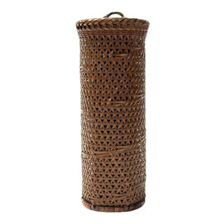 Japanese Signed Wall Basket For Sale