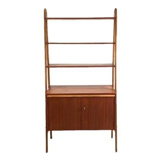 Vintage Danish Teak Bookcase For Sale