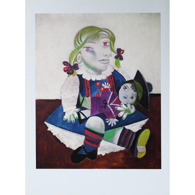 Picasso Portrait De Maya à La Poupée, 1971 Parisian Photogravure For Sale - Image 9 of 9