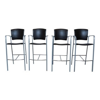 Set of 4 Enea Barstools by Josep Llusca for Coelesse For Sale