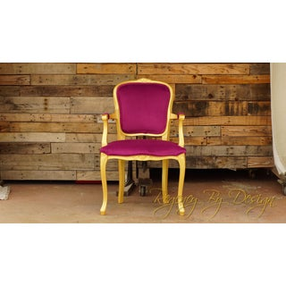 Vintage Pink and Gold Louis XV Style Armchair Preview