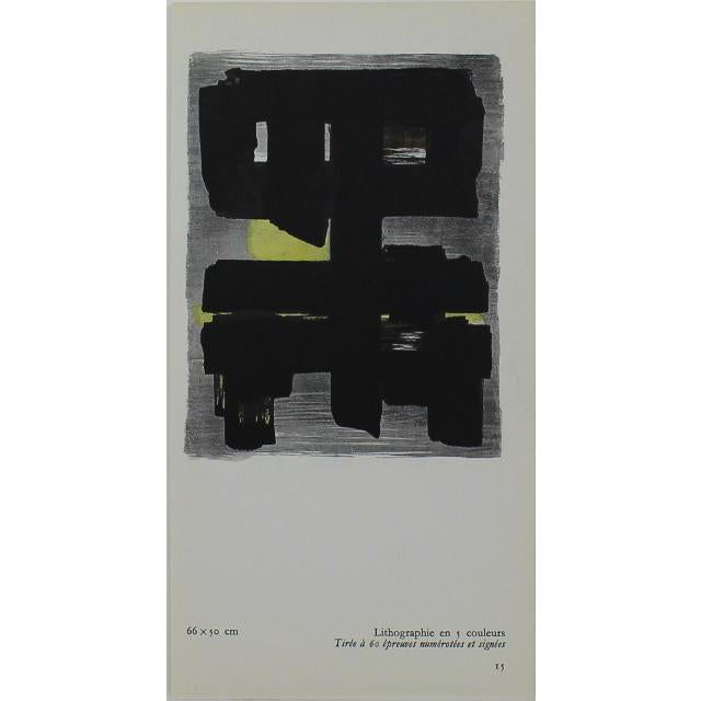 Small Pierre Soulages Pochoir Print For Sale