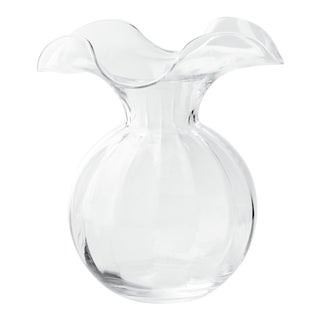 Vietri Clear Hibiscus Fluted Vase from Kenneth Ludwig Home For Sale