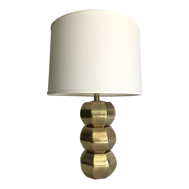 Westwood Vintage Brass Geometric Table Lamp For Sale