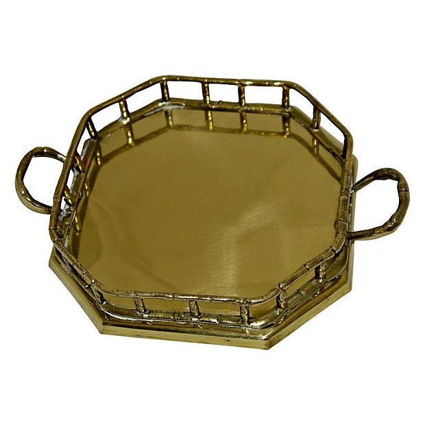 Brass Faux Bamboo Trays - A Pair - Image 4 of 5