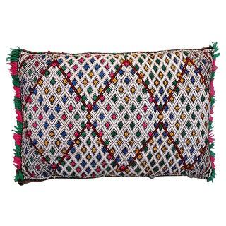Pink & Blue Diamonds Moroccan Pillow