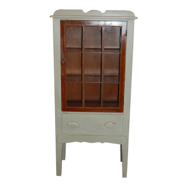 Antique Painted Display Cabinet - Image 1 of 10