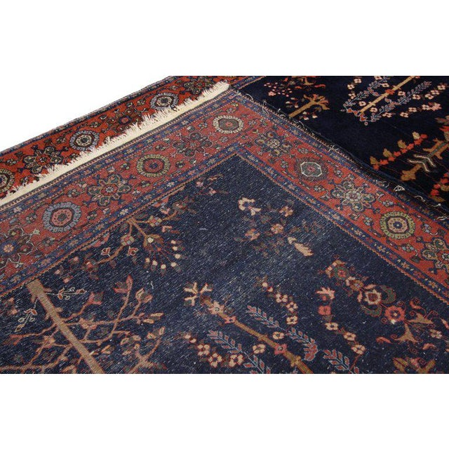 Early 20th Century Early 20th Century Antique Persian Sarouk Rug - 4′3″ × 6′5″ For Sale - Image 5 of 8