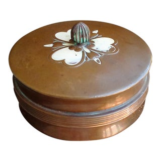 1930s Art Deco Chase Copper Powder Box