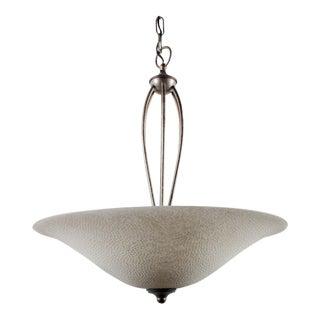 Textured-Glass Ceiling Pendant Lamp