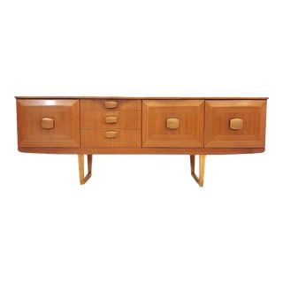 Vintage Stonehill Furniture English Modern Teak Credenza