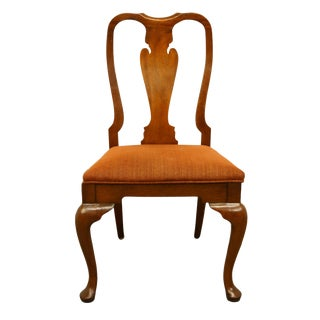 Late 20th Century Vintage Hickory James River Mahogany Queen Anne Dining Side Chair For Sale