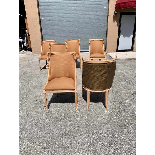 """Mid-Century Modern """"Gondola"""" Swan Neck Dining Chairs - Set of 6 For Sale - Image 9 of 13"""