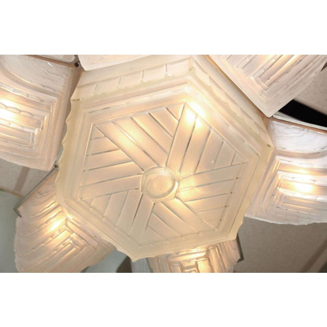 Large and Important Art Deco Chandelier by Sabino For Sale In New York - Image 6 of 9