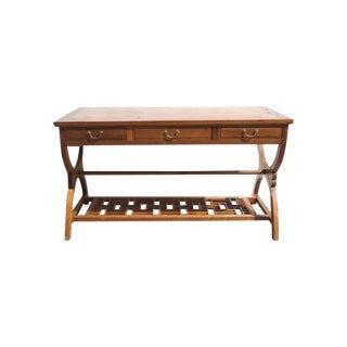 Oriental Crossed Legs Drawer Desk For Sale