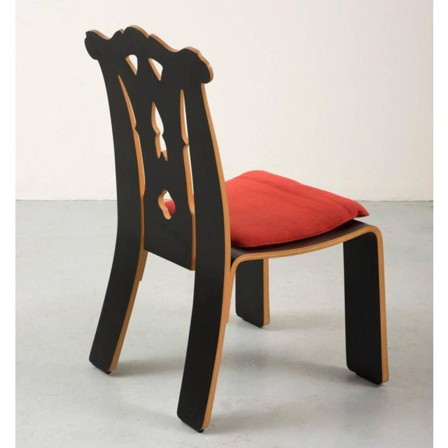 1980s Pair of Robert Venturi Chippendale Chairs for Knoll For Sale - Image 5 of 10