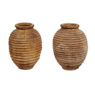 Mid-Century Ribbed Greek Pot