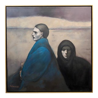 Ray Donley -Unemotional Figures -Oil Painting For Sale
