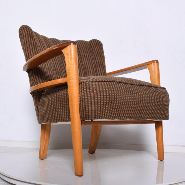 1950s Mid Century Modern Heywood Wakefield Maple Lounge Chair For Sale - Image 11 of 12