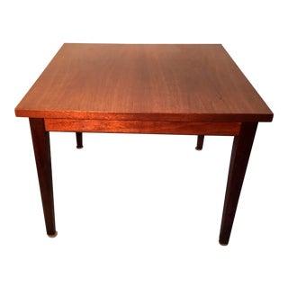 Mid Century Walnut Veneer Side Table For Sale