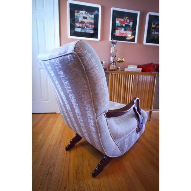 Stupendous Antique 1930S Swan Arm Gooseneck Rocking Chair Ibusinesslaw Wood Chair Design Ideas Ibusinesslaworg