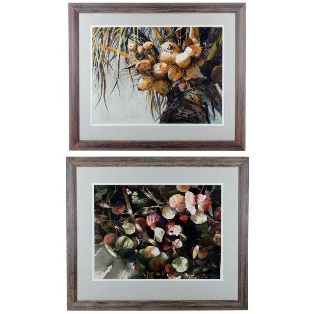 Gustavo Castillo Watercolors - A Pair For Sale