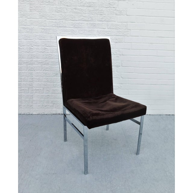 Milo Baughman Set of Six Chrome Dining Chairs by Dillingham in the Style of Milo Baughman For Sale - Image 4 of 10