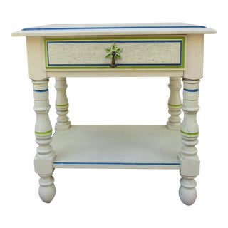 Coastal Palm Themed Nightstand For Sale