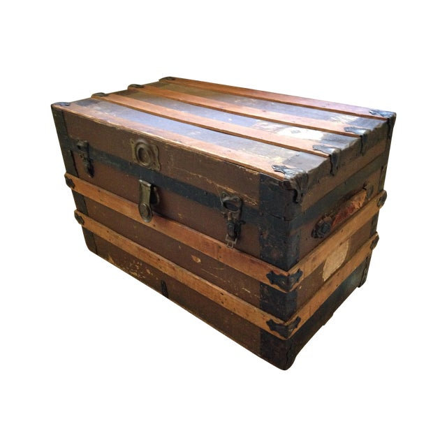 Antique Wells Fargo Stage Coach Trunk - Image 1 of 9