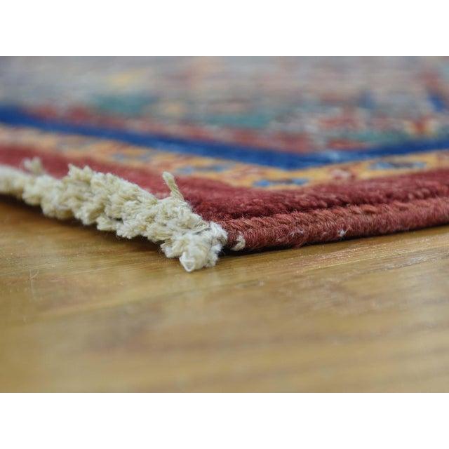 Shahbanu Rugs Kazak Khorjin Hand-Knotted Pure Wool Rug For Sale - Image 4 of 13