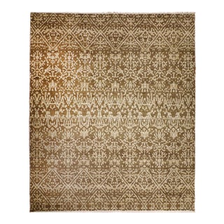 Hand Knotted Indo Moroccan Rug - 9′ × 10′9″ For Sale