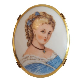 French Limoges Porcelain Cameo