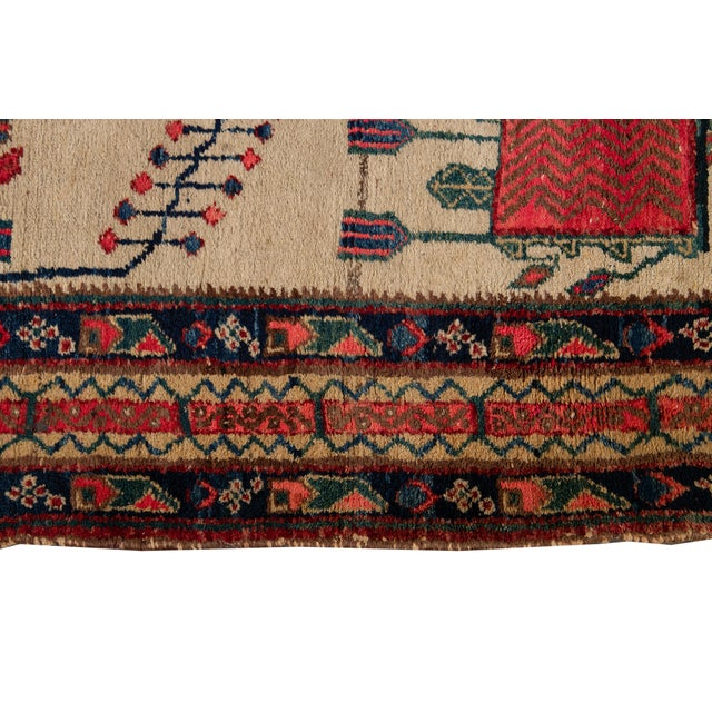 Mid-20th Century Vintage Persian Rug 4' 2'' X 6' 3''. For Sale - Image 9 of 12