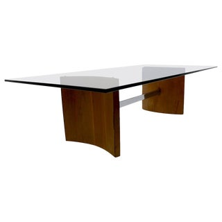 Kagan Propeller Glass Top Coffee Table for Selig For Sale